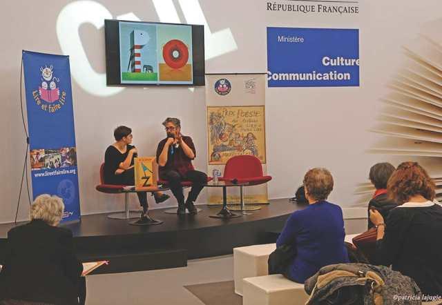 Jean-François Martin, illustrateur du livre lauréat aux côtés de Julie Nice du Printemps des Poètes